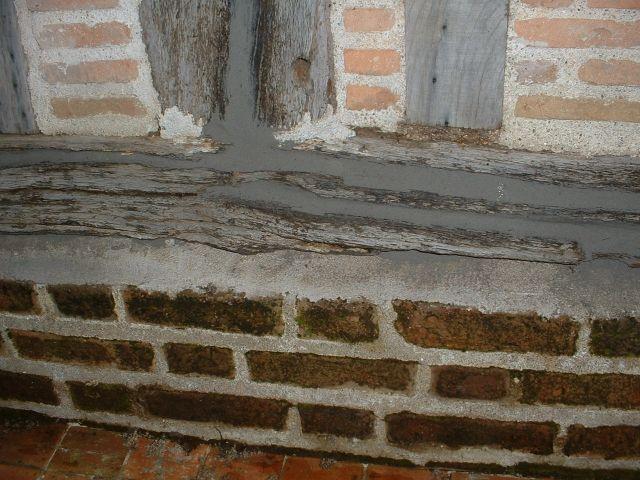 Réparation dune lisse basse et colombages